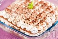 Лесна торта с домашни блатове и крем от извара, сметана и сирене маскарпоне